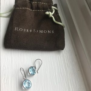 Ross Simons Blue Topaz Sterling Silver Earrings